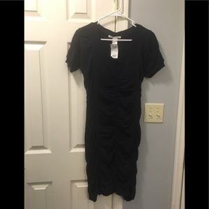 Navy knee length sweater dress